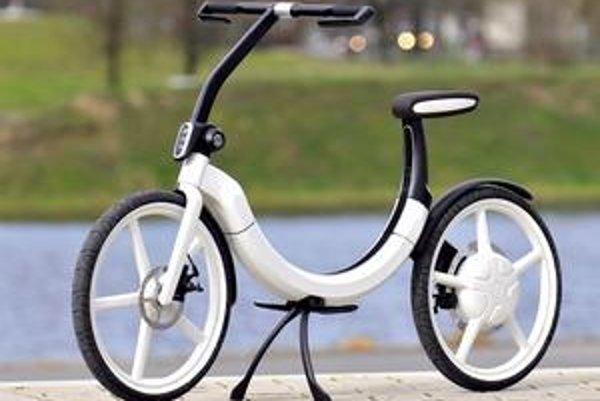 Elektrický bicykel Bik.e. Tento inovatívny bicykel možno poskladať a uložiť v aute do priestoru pre rezervné koleso.