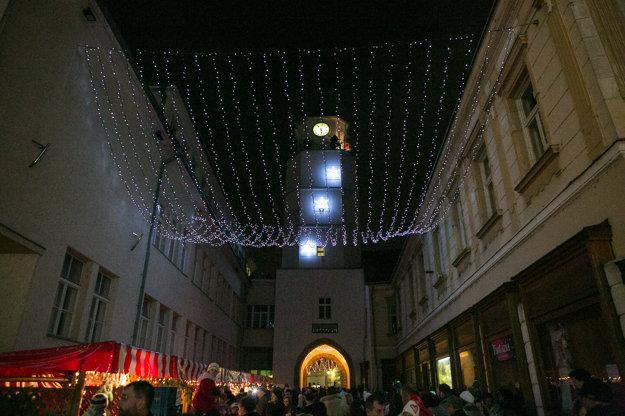 Vianočná atmosféra v Trenčíne.