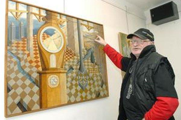 Architekt i výtvarník Ervín Braun predstavuje výber zo svojej tvorby na aktuálnej výstave v galérii VEBA.