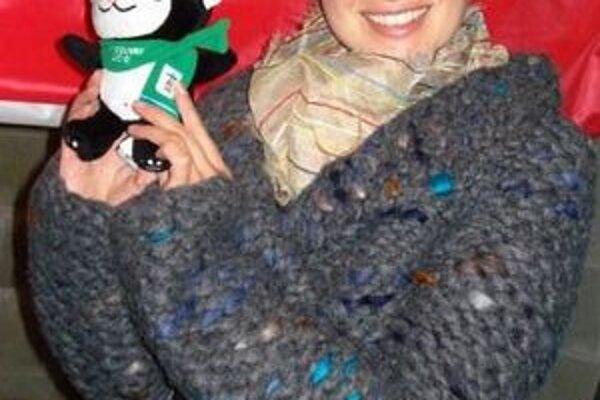 Ľubka Pariláková s olympijským maskotom.