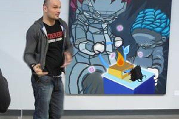 Využíva komiksovú rétoriku, najviac ho na maľbe baví intimita.
