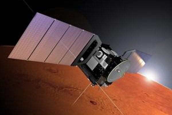 Sonda Mars Express. Sonda zistila prítomnosť metánu v atmosfére Marsu