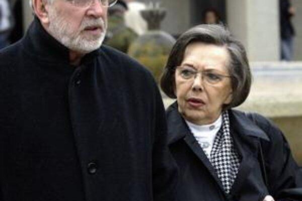 Jiřina Jirásková s Jaromírom Hanzlíkom.