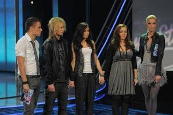 Napinák. Riadny stres prežili v pondelok aj Miro Šmajda a Monika Bagárová, ktorí zostali stáť na pódiu s Nikoletou.