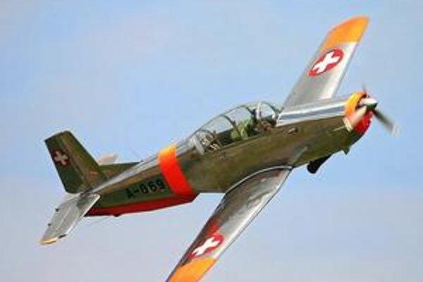 Cvičné lietadlo Pilatus P3-05. Požívalo ich švajčiarske i brazílske letectvo.