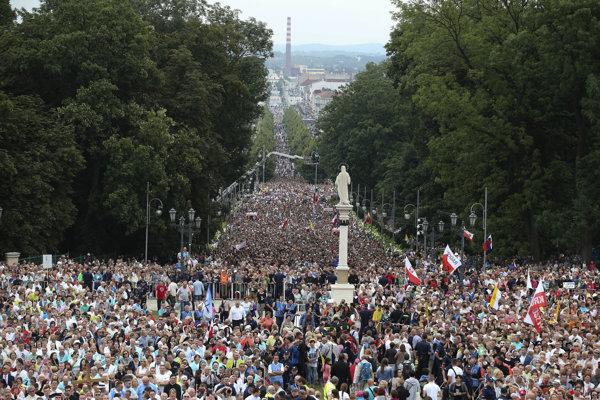 Státisíce pútnikov, Krakov sa stal na zopár dní hlavným mestom kresťanov.