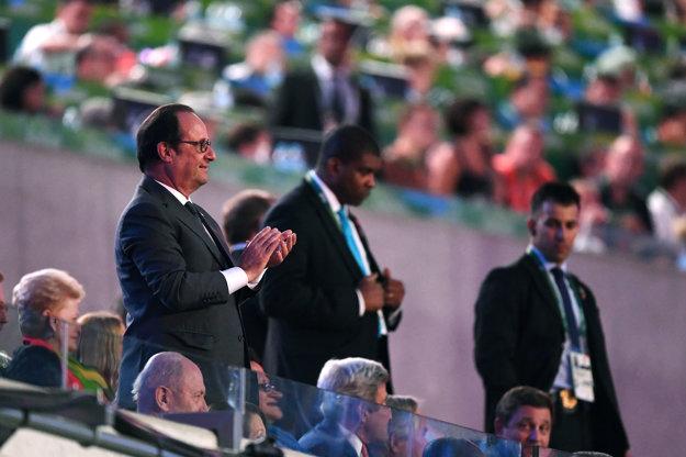 Francois Hollande sa v Riu de Janeiro zúčastnil aj otváracieho ceremoniálu.