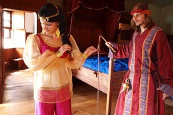 Príbeh o Aladinovi mal u návštevníkov Bojnického zámku úspech.