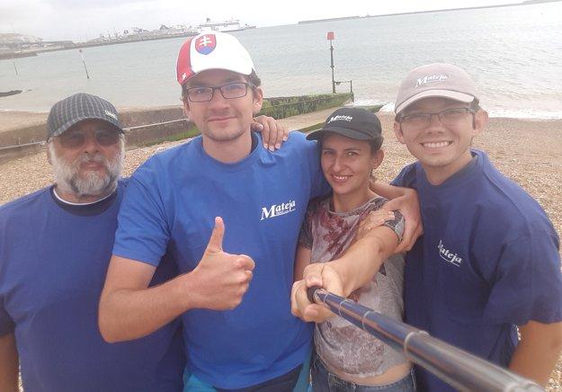Úspešný tím - zľava Ladislav Lenčeš, František Nehaj, Marianna Kubašková aMichal Mokáň.