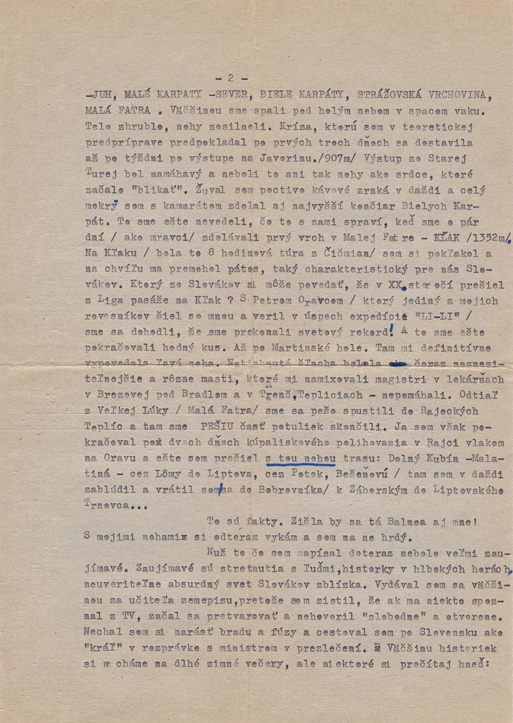 List prvý. Strana 2.