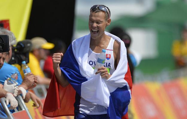 Vysilený víťaz sa tešil z druhej zlatej medaily slovenskej výpravy v Riu.