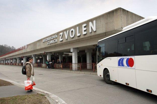 Pohľad na zvolenskú autobusovú stanicu.