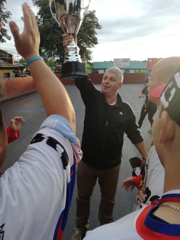 Veľkú radosť z víťazstva mal aj tréner Vlado Snoha.