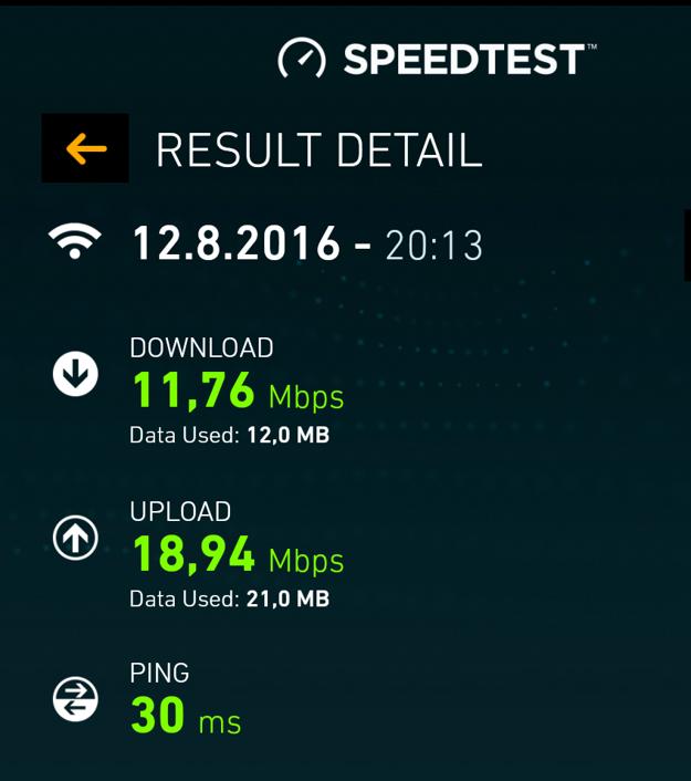 Rýchlosť internetu v autobusoch je dostatočná.