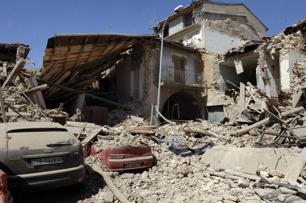 L'Aquila po zemetrasení.