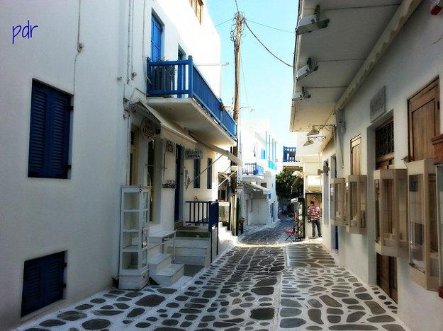 Mykonos. Ulica Matoyianni.