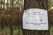 Takýto oznam privítal hubárov v lesoch na Záhorí.