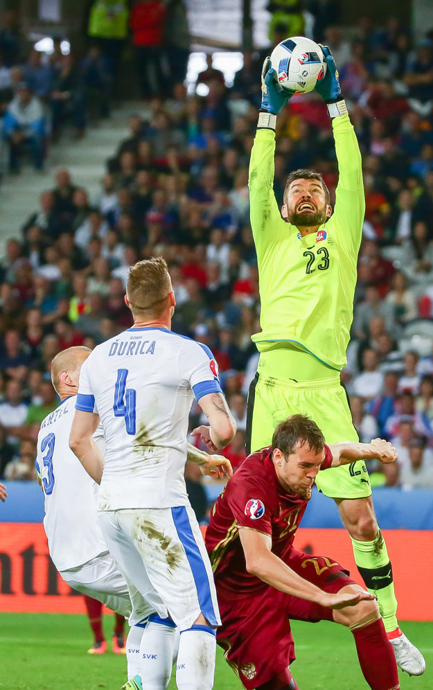 Matúš Kozáčik chytal aj vo všetkých zápasoch Slovenska na tohtoročnom európskom šampionáte.