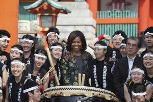 Prvá dáma USA na návšteve Japonska.