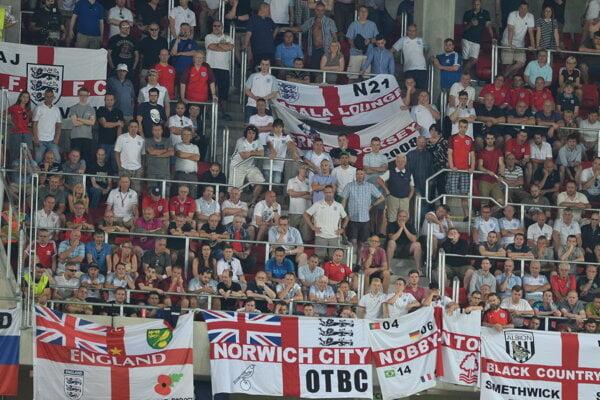 Fanúšikov Anglicka prišlo asi dvetisíc.