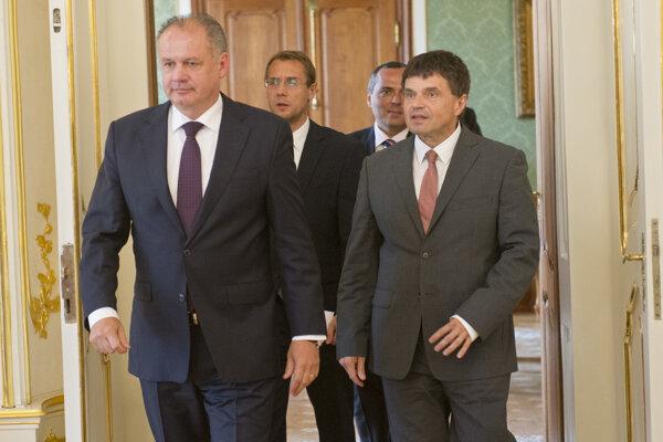 Andrej Kiska (vľavo) prijal Petra Plavčana.