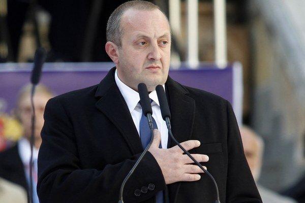 Gruzínsky prezident Giorgi Margvelašvili.