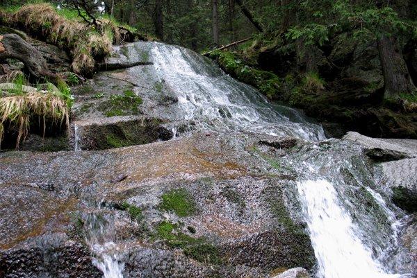 Horná časť Obrovského vodopádu.