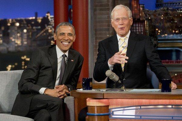 Obama vystúpil v show Davida Lettermana.