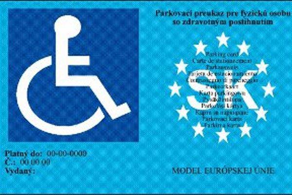 Parkovací preukaz.