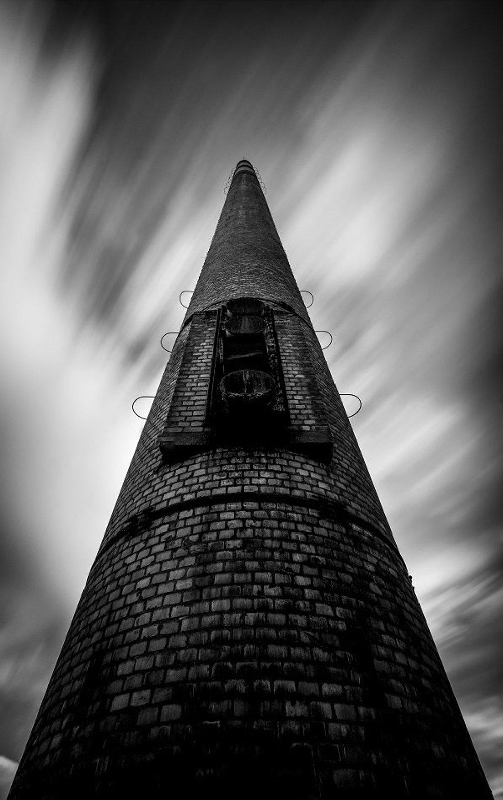 Opustený komín na okraji Detvy