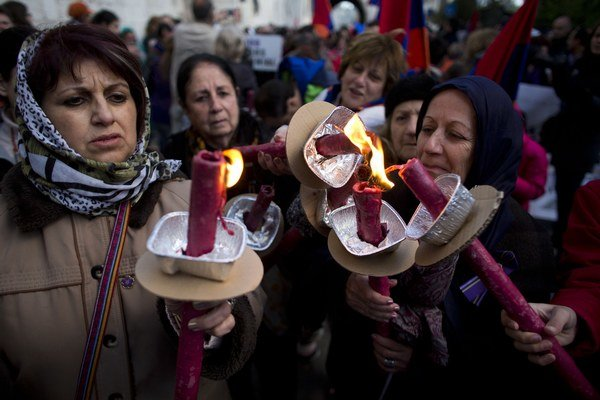 Genocídu si pripomínajú Arméni na celom svete. Tento záber je z Izraela.