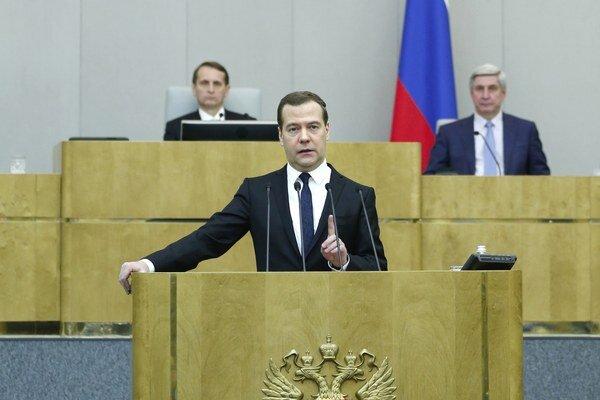Medvedev vystúpil v Štátnej dume.