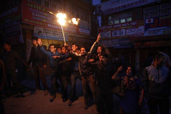 Nepálski demonštranti.
