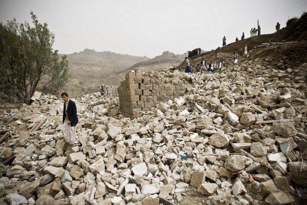 Saudskoarabské nálety ničia aj civilné obydlia.