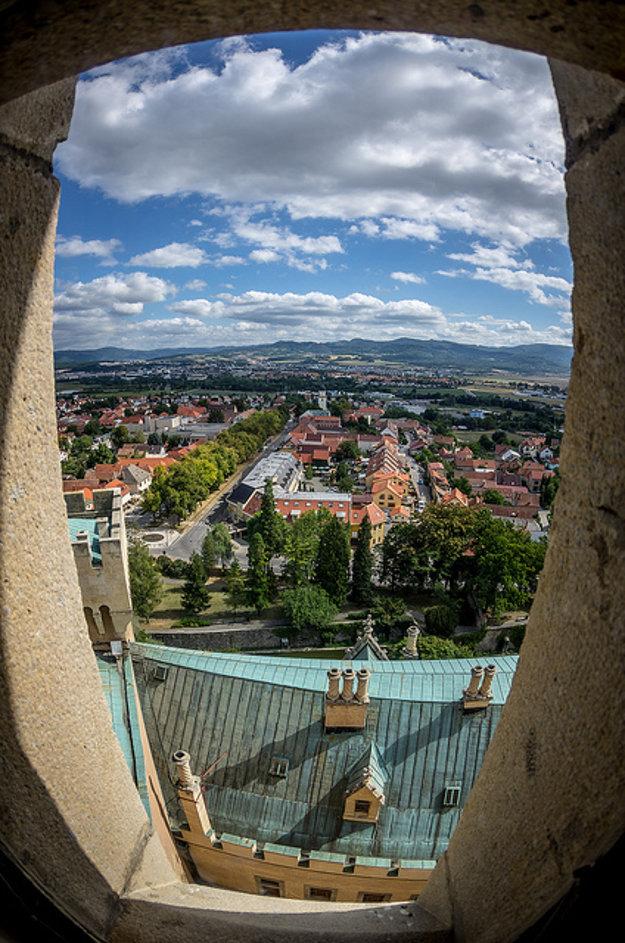 Výhľad z Bojnického zámku.