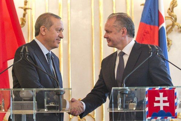 Recepom Tayyipom Erdogan a Andrej Kiska.