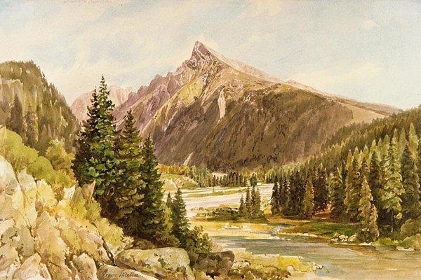 Kôprová dolina a Kriváň.