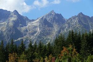 Kozí štít, Kolový štít a Čierny štít vo Vysokých Tatrách.