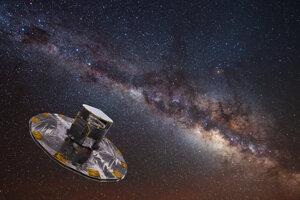 Gaia mapuje hviezdy Mliečnej cesty
