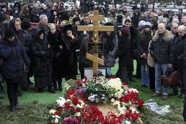 Pohreb Borisa Nemcova v Moskve 3. marca 2015.