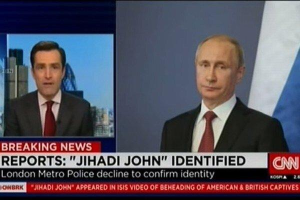 Putin sa na obrazovky CNN dostal v nesprávnej chvíli.