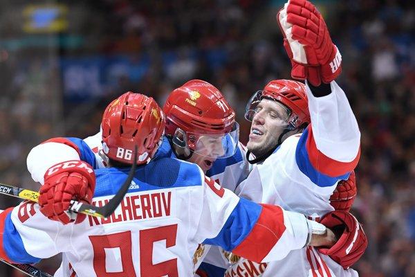 Ruskí hokejisti - ilustračná fotografia.