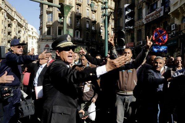 Demonštrácia v Káhire.