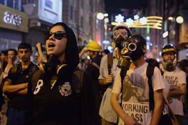 Protesty v Turecku.