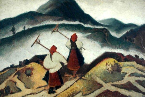 """Dielo Martina Benku s názvom """"Dve ženy"""" z roku 1933."""