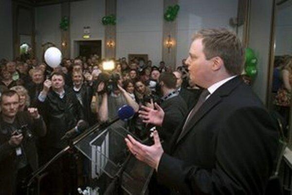 Islandský premiér Sigmundur Davíd Gunnlaugsson.