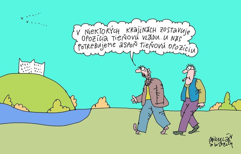 Volič si pýta tieňovú opozíciu (kreslí Sliacky) 25. september