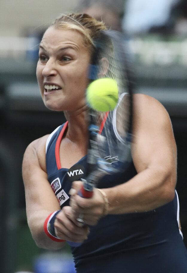Dominika Cibulková postúpila do druhého kola.