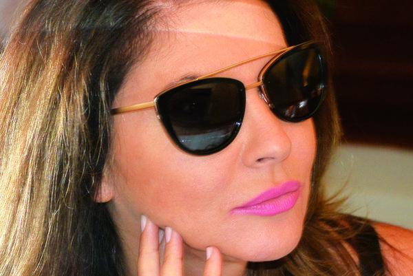 Bývalá miss, dnes spolumoderátorka smotánky Andrea Tatarková.