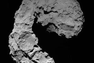 kométa 67P z výšky zhruba 23 kilometrov. V tom okamihu bola viac sonda vzdialená asi deň od nárazu.